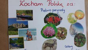 Zdjęcie przedstawia kolaż złożony z małych zdjęć na których przedstawione są kwiaty, zwierzęta, góry, lasy oraz ludzie spędzający czas nad wodą. oraz