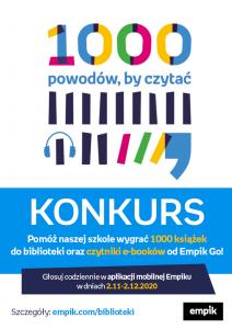 KONKURS - 1000 POWODÓW BY CZYTAĆ