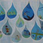 Praca plastyczna: kropelki wody i ich wykorzystanie w życiu codziennym.wody