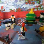Zakodowane klocki lego-choinka, pingwinek.