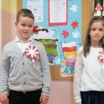 Adam Mikołajec i Zofia Włodarczyk II miejsce w Powiatowym Konkursie Piosenki Patriotycznej i Żołnierskiej w kategorii duet.