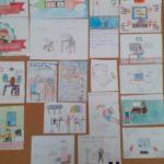W 3a zrobiliśmy galerie prac na tamat Jestem bezpiecznym użytkownikem internetu.