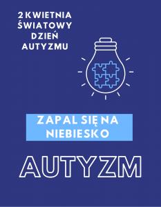 plakat z okazji światowego dnia autyzmu