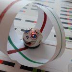 Ozobot pokonuje trasę matematyczną- kulę.
