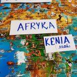 Mapa świata: kontynenty Europa i Afryka.