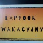 Lapbook wakacyjny.