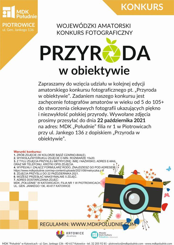 plakat zawiera informacje na temat konkursu fotograficznego