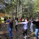 Uczniowie klas VII a i VII j - tańce integracyjne